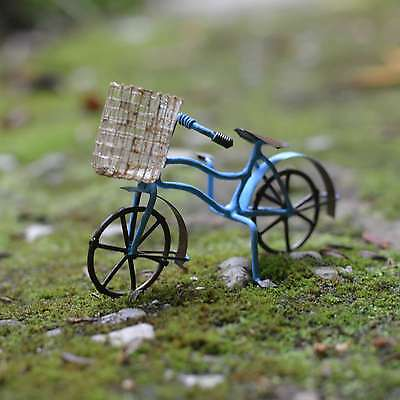 Bicycle with Basket - Blue Fairy cottage Home Garden Craft Décor