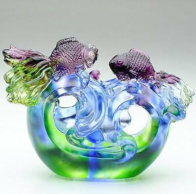 Liuli crystal arts and crafts, Lover and new married present, Colored glaze gift