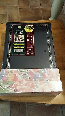 NEW Thompson Bonded Leather Photo Album Book 2 Pack 600 Photos 4X6 No PVC In Pgs