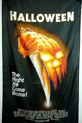 Halloween 80s horror movie LARGE 3x5 polyester poster