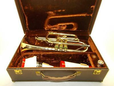 Old's Special Tri-Colored Cornet~Bach MPC~2 Mutes~Orig. Hard Shell Case~NICE!