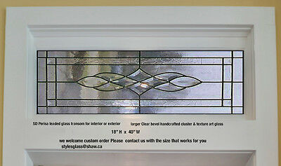 Stunning Bevel Transom window for above your door entry way