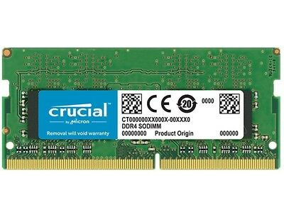 CRUCIAL 4GB DDR4 2133Mhz PC4-17000 1.2V SODIMM Notebook RAM CT4G4SFS8213