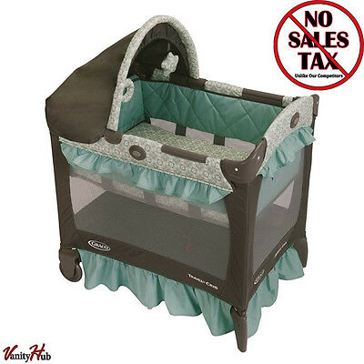 Graco Baby Bassinet Portable Travel Lite Crib Folding Infant Cradle Playpen