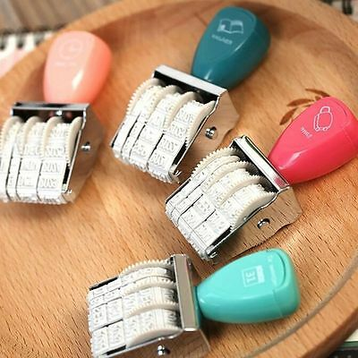 Decal Kawaii Stationery Roller Stamps Rubber Wheel DIY Album Tools Date Stamp