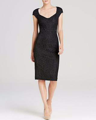 88effdcd027b DVF Diane Von Furstenberg KATRINA Lace Cap Sleeve Sheath Dress Black $428