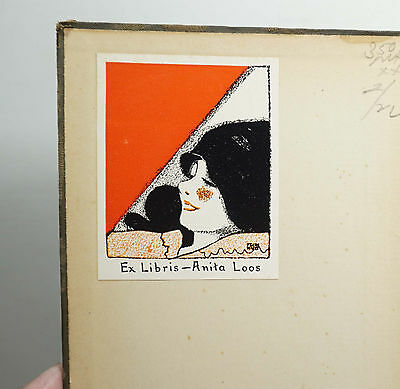 Anita Loos Bookplate c1918 Author Screenwriter Designed by Frank Walts