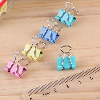 Colorful Classic Binder Clips Document Clips Paper Holder Office Stationery