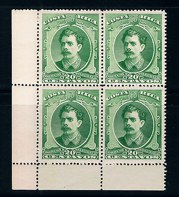 COSTA RICA STAMPS 1889 SCOTT No.29 • BLOCK OF 4 • MNH • PRESIDENT SOTO •