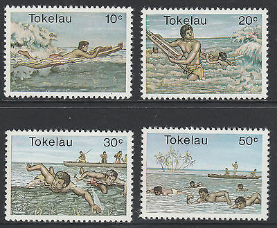 Tokelau Islands - 1980 Water Sports - Set Of 4 - Muh