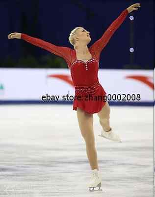 Ice skating dress.New red Competition Figure Skating dress.Baton Twirling custom