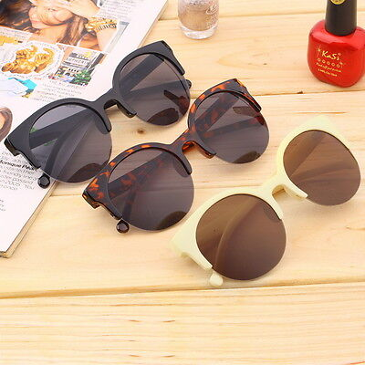 Retro Lens Vintage Men Women Round Frame Sunglasses Glasses Eyewear LULJ