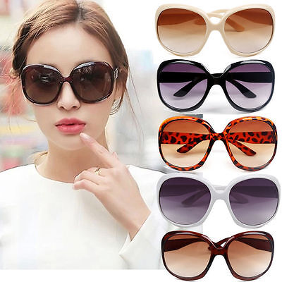 New Women's Retro Vintage Shades Fashion Oversized Designer Sunglasses FLJ