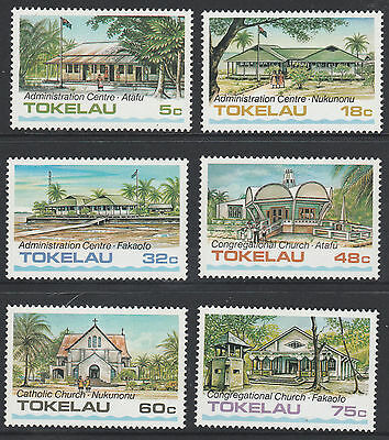 TOKELAU ISLANDS - 1985 TOKELAU ARCHITECTURE - SET OF 6 - (1st Series) - MUH