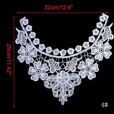 Applique Collars Sewing Embroidered White Lace Neckline Lace Floral Collar