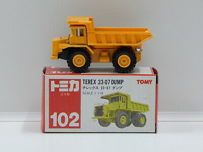 1:119 Terex 33-07 Dump (Yellow) - Made in Japan Tomica 102