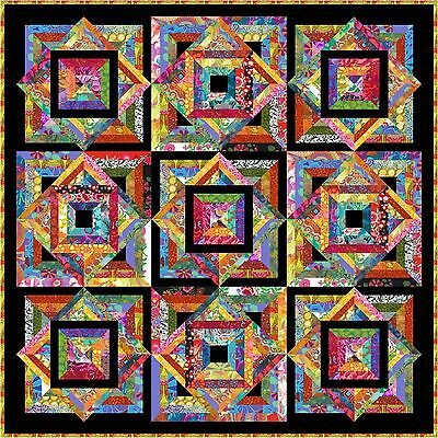 "NEW - TROPPO LOCO - 53"" - Quilt-Addicts Precut Patchwork Quilt Kit Lap"
