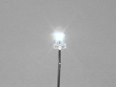 10 White 3Mm Inverted Cone Leds For Lighting O Scale Buildings