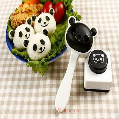 Panda DIY Rice Vegetable Roll Die Baking Mould Kitchen Craft Embossing Mold Tool