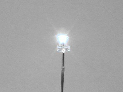 10 White 3Mm Inverted Cone Leds For Lighting S Scale Buildings