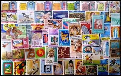 BANGLADESH-Mint Stamps-66 All Different, MNH-58 Large & 8 Small-Pre 1985 Issues