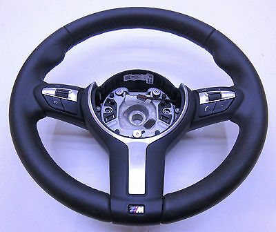 M Sport Black Leather Multifunction Steering Wheel for BMW F30 F31 3 Series