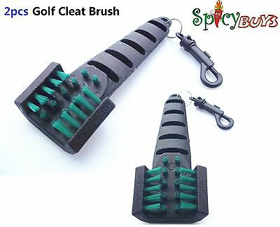 2pcs Golf Cleaning Cleat Brush Iron Club Groove Driver Shoe Cleaner Scrubber