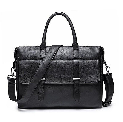 Briefcase Laptop Bag Men Leather Business Messenger Shoulder Bags