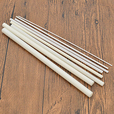 White DIY ABS Styrene Plastic Round Bar Rods Scene Model Dollhouse Hand Craft