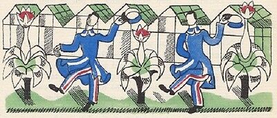 Edward Bawden Original Print With Hand-Colouring 1930 Limited Edition Rare