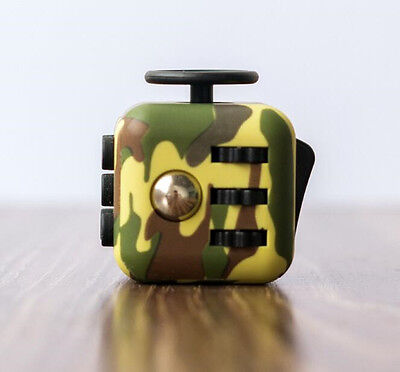 Green camouflage Fidget Cube Relieves Stress And Anxiety for Children and Adults