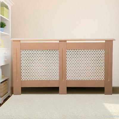 Premium Radiator Cover Cabinet Unpainted MDF Wood 2 Size