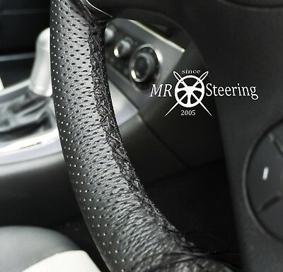 GREY DOUBLE ST PERFORATED LEATHER STEERING WHEEL COVER FOR MERCEDES SLK R171 05