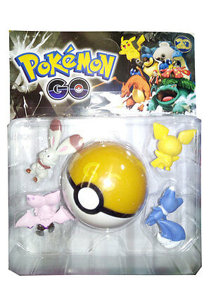 Pokeball con 4 Figuras Pokemon