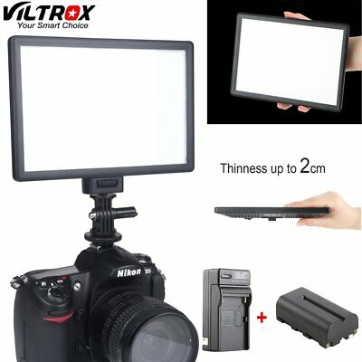 Viltrox L116T LCD Display Bi-Color&Dimmable Slim Video LED Light+Battery+Charger