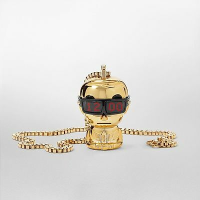 Karl Lagerfeld KL9002 Gold-tone Tokidoki Unisex Digital Necklace Watch, RRP £185