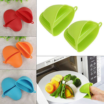 Silicone Kitchen Glove Oven Pot Holder Heat Resistant Tool BBQ Baking Mitts New