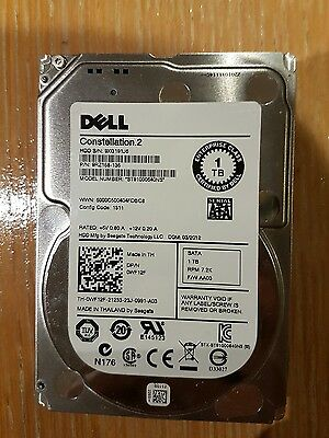 "Dell 1TB SATA 7200 RPM 2.5"" Hard Drive - 0WF12F"
