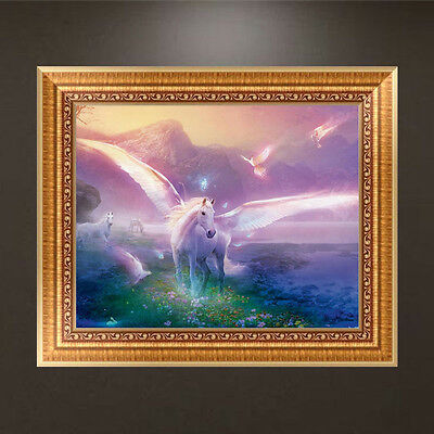 DIY 5D Diamond Painting Horses Angel Embroidery Cross Crafts Stitch Home Decor
