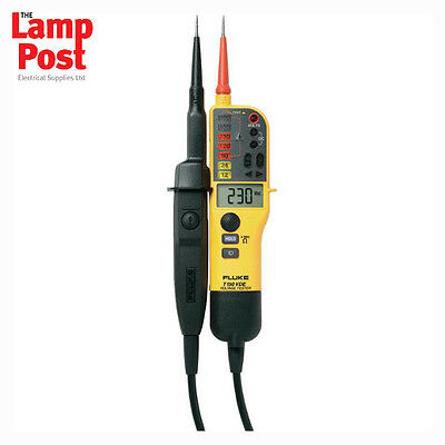 Fluke T150 Voltage and Continuity Tester with LCD, Ohms & Switchable Load