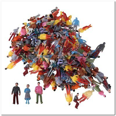 200xPainted Model People Figures Street Scene OO 1:100 Scale for Building Layout