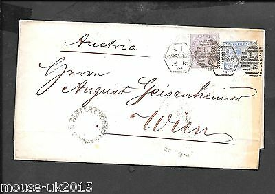 GB 1881 COVER/WRAPPER 3½d RATE TO AUSTRIA RECEIVED 11.5.1881