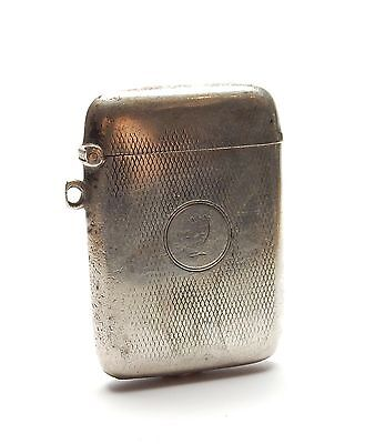 Antique B'Ham 1938 925 Silver Deakin And Francis Ltd Vesta Cigarette Case 42.2g