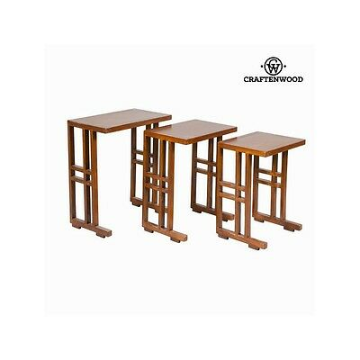 Lot de 3 tables gigognes marron - Collection Serious Line by Craften Wood