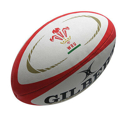 GILBERT wales replica midi rugby ball