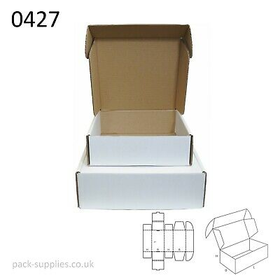White Cardboard Postal Boxes - Royal Mail Mailing & Shipping Boxes
