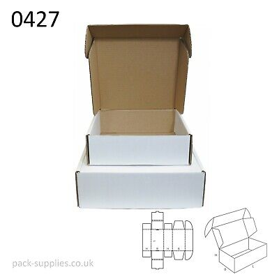 White Cardboard Postal Boxes - Royal Mail Small Parcel Mailing & Shipping Boxes