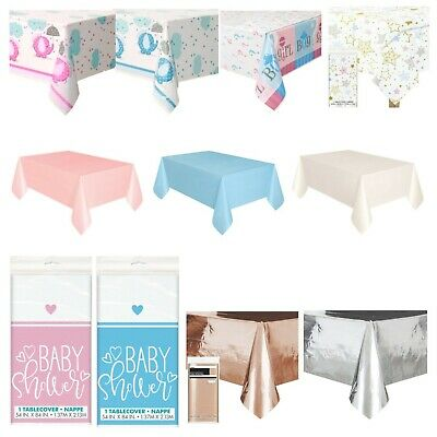 BABY SHOWER TABLECOVERS - Pink, Blue, Unisex, Boy, Girl, Party Tableware,Pastel