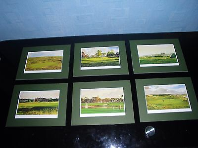 Mounted Golf Course Prints