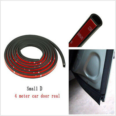 4M Car Truck Door Small D-shape Rubber Seal Weather Strip OEM Hollow Universal
